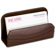 Chocolate Brown Leather Business Card Holder