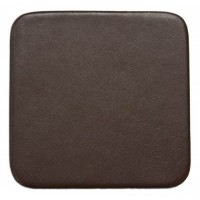 Chocolate Brown Leather 4″ Square Coaster