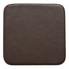 Chocolate Brown Leatherette Square Coaster