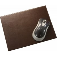 Dark Brown Bonded Leather Mouse Pad