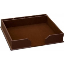 Dark Brown Bonded Leather Conference Pad Holder