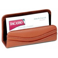 Tan Leather Business Card Holder