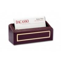 Burgundy 24Kt Gold Tooled Business Card Holder