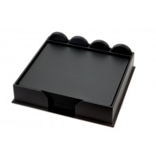 Black Leatherette 23-Piece Conference Room Set