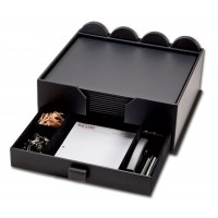 Black Leather 23-Piece Combination Conference Room Set