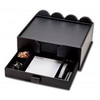 Black Leatherette 23-Piece Combination Conference Room Set