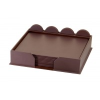 Dark Brown Bonded Leather 23-Piece Conference Room Set