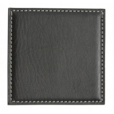 Black Leatherette Low Profile Coaster