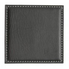 Black Leatherette Low Profile Coaster