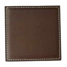 Brown Leatherette Low Profile Square Coaster