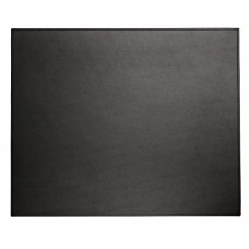 Dacasso Colors Faux Leather 17″ x 14″ Table Mat – Midnight Black