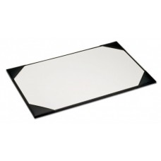 Black Leather 34″ x 20″ Desk Pad with Blotter Paper