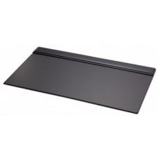 Black Leather 34″ X 20″ Top-Rail Desk Pad