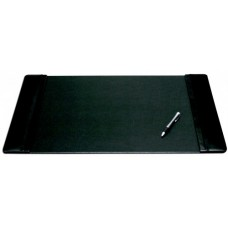 Black Leather 22″ x 14″ Side-Rail Desk Pad