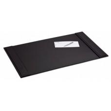 Black Crocodile Embossed Leather 34″ x 20″ Side-Rail Desk Pad