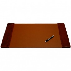 Mocha Leather 25.5″ x 17.25″ Side-Rail Desk Pad