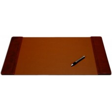 Mocha Leather 22″ x 14″ Side-Rail Desk Pad