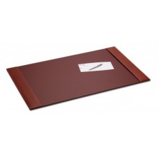 Rustic Brown Leather 34″ x 20″ Side-Rail Desk Pad