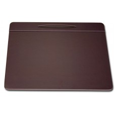 Chocolate Brown Leather 17″ x 14″ Pen Well Conference Pad
