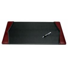 Burgundy Leather 22″ x 14″ Side-Rail Desk Pad